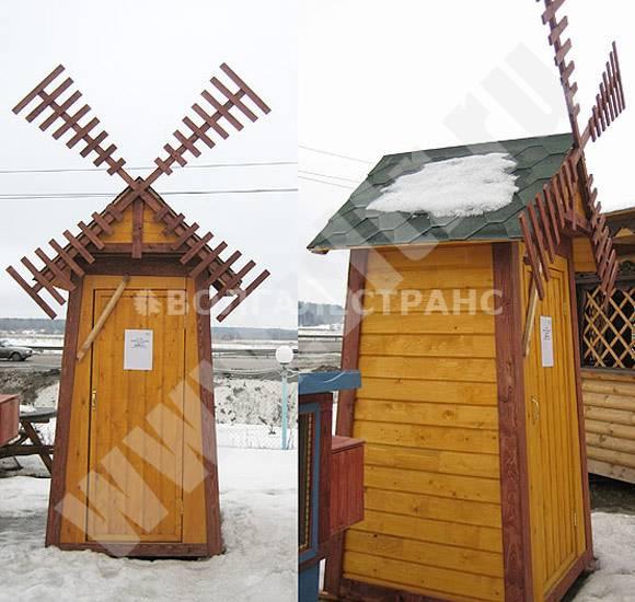 Дачный домик туалет